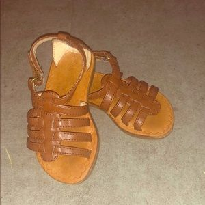Baby Gap brown leather Gladiator sandals! Size 5!